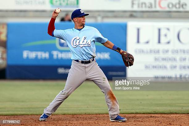 Tim Saunders of the Cubs in action during the Florida State League game between the Daytona Cubs and the Tampa Yankees at George M Steinbrenner Field...