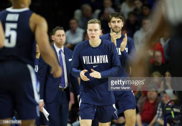 Tim Saunders of the Villanova Wildcats during a game against the Penn Quakers at The Palestra on the campus of the University of Pennsylvania on...