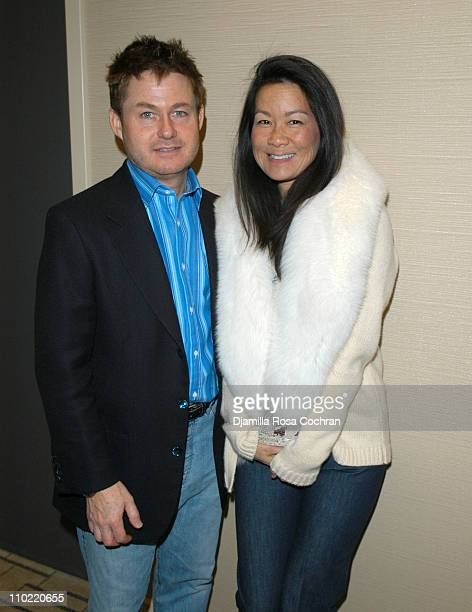 Tim Schifter and Helen Lee Schifter during Absolute Magazine Launch Party at One Central Park Condominuims in New York City, New York, United States.