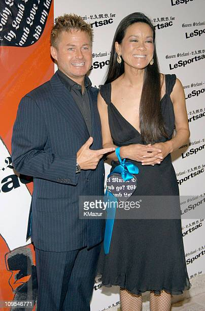 Tim Schifter and Helen Lee Schifter during Gwen Stefani - L.A.M.B. For LeSportsac in New York City.