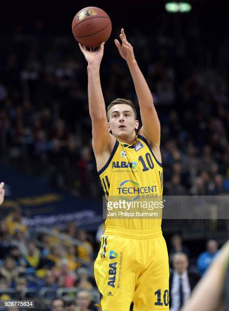 Tim Schneider of Alba Berlin during the easyCredit BBL game between Alba Berlin and medi Bayreuth at MercedesBenz Arena on march 3 2018 in Berlin...