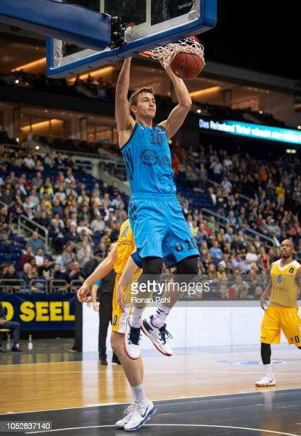 Tim Schneider of Alba Berlin during the Eurocup match between Alba Berlin and Arka Gdynia at MercedesBenz Arena on October 23 2018 in Berlin Germany