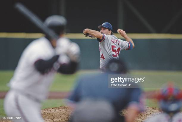 Tim Scott Pitcher for the Montreal Expos prepares to throw during the Major League Baseball National League West game against the San Francisco...