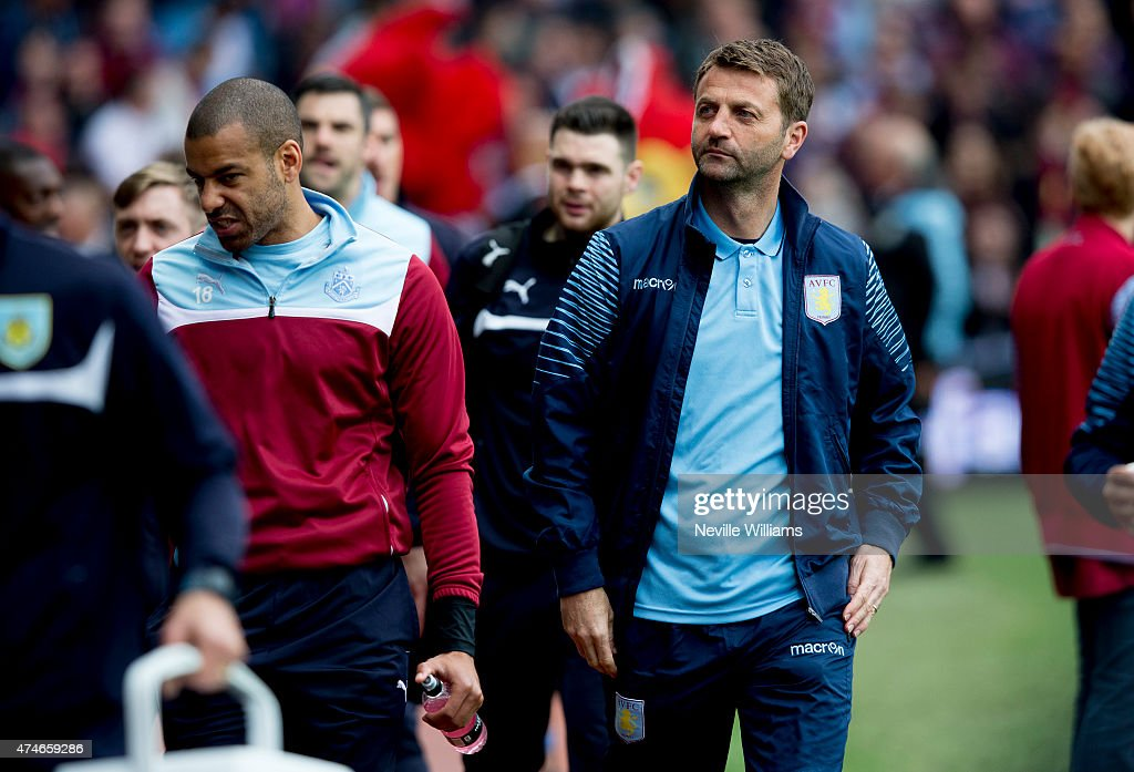 Tim Sherwood manager of Aston Villa during the Barclays Premier League match between Aston Villa and Burnley at Villa Park on May 24, 2015 in Birmingham, England.