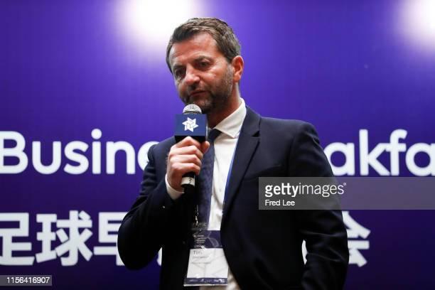 Tim Sherwood of Premier League GREAT Football Business Summit breakfast on July 19, 2019 in Shanghai, China.