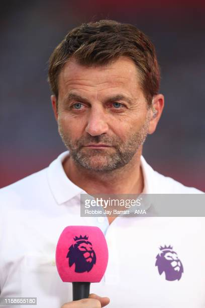 Tim Sherwood reporting for Premier League during to the Premier League Asia Trophy 2019 fixture between Newcastle United and Wolverhampton Wanderers...