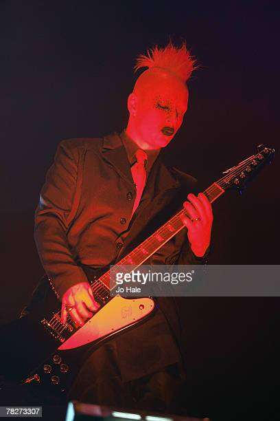 Tim Skold performs with Marilyn Manson at the Wembley Arena on December 5 2007 in London England