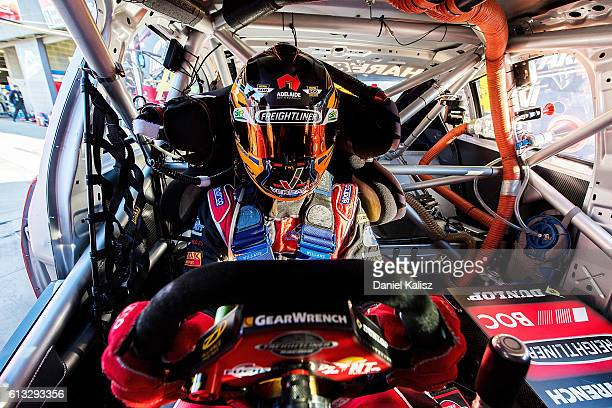 Tim Slade driver of the Freightliner Racing Holden Commodore VF during the Top Ten Shootout for the Bathurst 1000 which is race 21 of the Supercars...