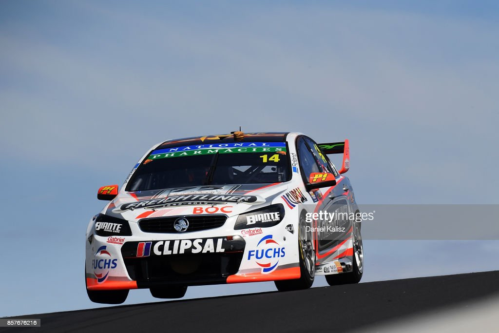 Tim Slade drives the #14 Freightliner Racing Holden Commodore VF during practice ahead of this weekend's Bathurst 1000, which is part of the Supercars Championship at Mount Panorama on October 5, 2017 in Bathurst, Australia.