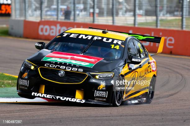 Tim Slade drives the Freightliner Racing Holden Commodore ZB on July 07 2019 in Townsville Australia