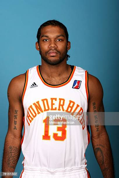 Tim Smith of the Albuquerque Thunderbirds poses for a portrait during DLeague media day on November 13 2007 at the Open Court in Lehi Utah NOTE TO...