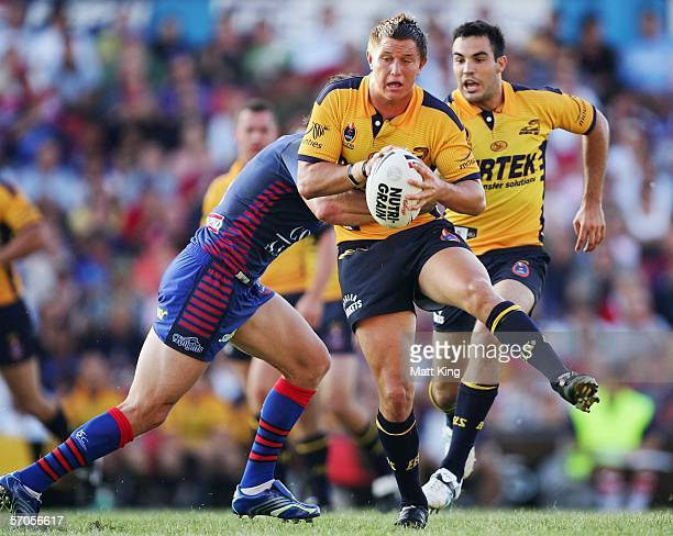 Tim Smith of the Eels runs with the ball during the round one NRL match between the Newcastle Knights and the Parramatta Eels at Energy Australia...