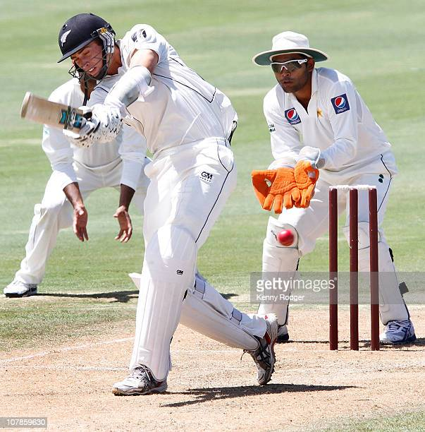 New zealand invitation xi stock photos and pictures getty images tim southee of new zealand invitation xi plays a shot as keeper adnan akmal looks on stopboris Image collections