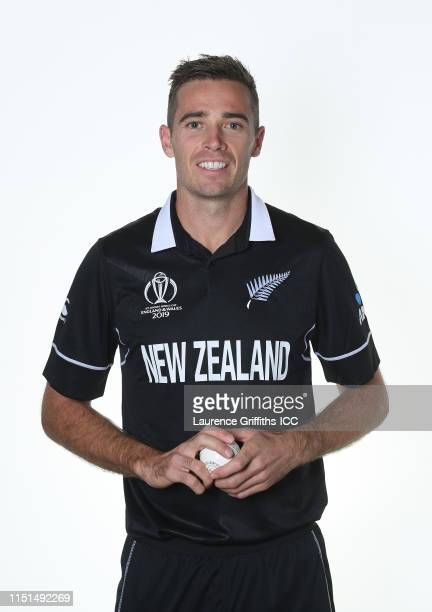 Tim Southee of New Zealand poses for a portrait prior to the ICC Cricket World Cup 2019 at the Marriott County Hall on May 24, 2019 in London,...
