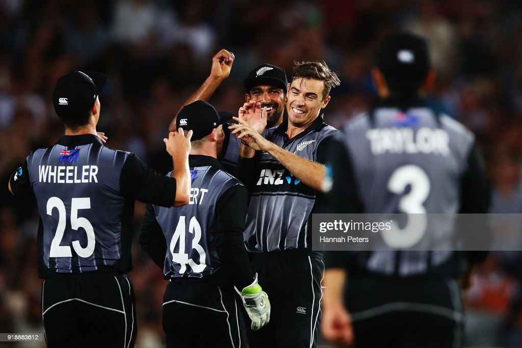 New Zealand v Australia: T20 Tri Series : News Photo