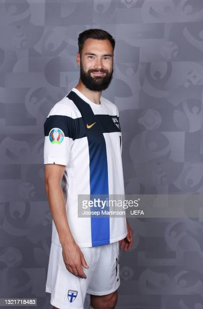 Tim Sparv of Finland poses during the official UEFA Euro 2020 media access day at Hilton Kalastajatorppa on June 02, 2021 in Helsinki, Finland.