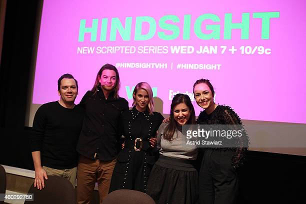 Tim Stack Senior Writer at Entertainment Weekly Craig Horner Laura Ramsey 'Hindsight' writer Emily Fox and Sarah Goldberg attend Entertainment Weekly...
