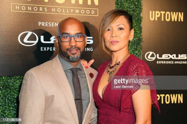 Tim Story and Vicky Story attends Uptown Honors Hollywood PreOscar Gala Arrivals at City Market Social House on February 20 2019 in Los Angeles...
