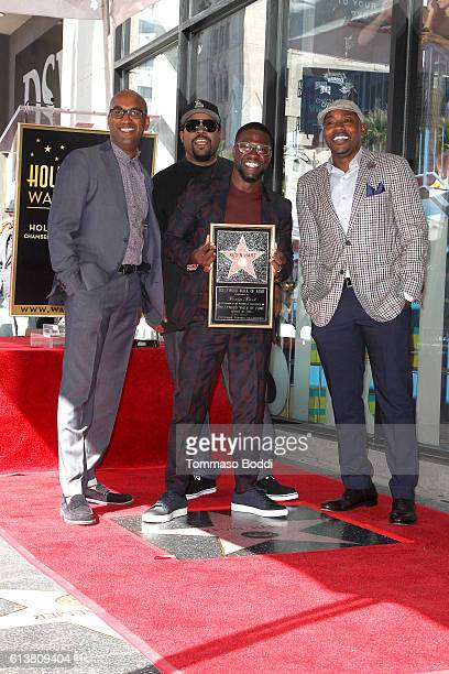 Tim Story Kevin Hart Ice Cube and Will Packer attend a ceremony honoring Kevin Hart with a Star On The Hollywood Walk of Fame on October 10 2016 in...