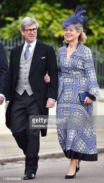 Tim Taylor and Lady Helen Taylor attend the wedding of Lady Gabriella Windsor and Thomas Kingston at St George's Chapel on May 18 2019 in Windsor...