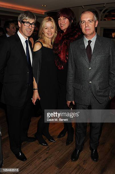 Tim Taylor Lady Helen Taylor Janet StreetPorter and Neil Tennant attend the Cartier Frieze Dinner at the Bar Boulud Mandarin Oriental Hyde Park on...