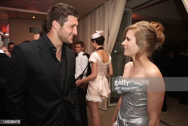 Tim Tebow and Amy Adams attend the 2012 Vanity Fair Oscar Party Hosted By Graydon Carter at Sunset Tower on February 26 2012 in West Hollywood...