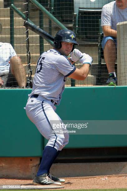 Tim Tebow of the Fireflies warms up on the on deck circle during the minor league game between the Columbia Fireflies and the Charleston RiverDogs on...