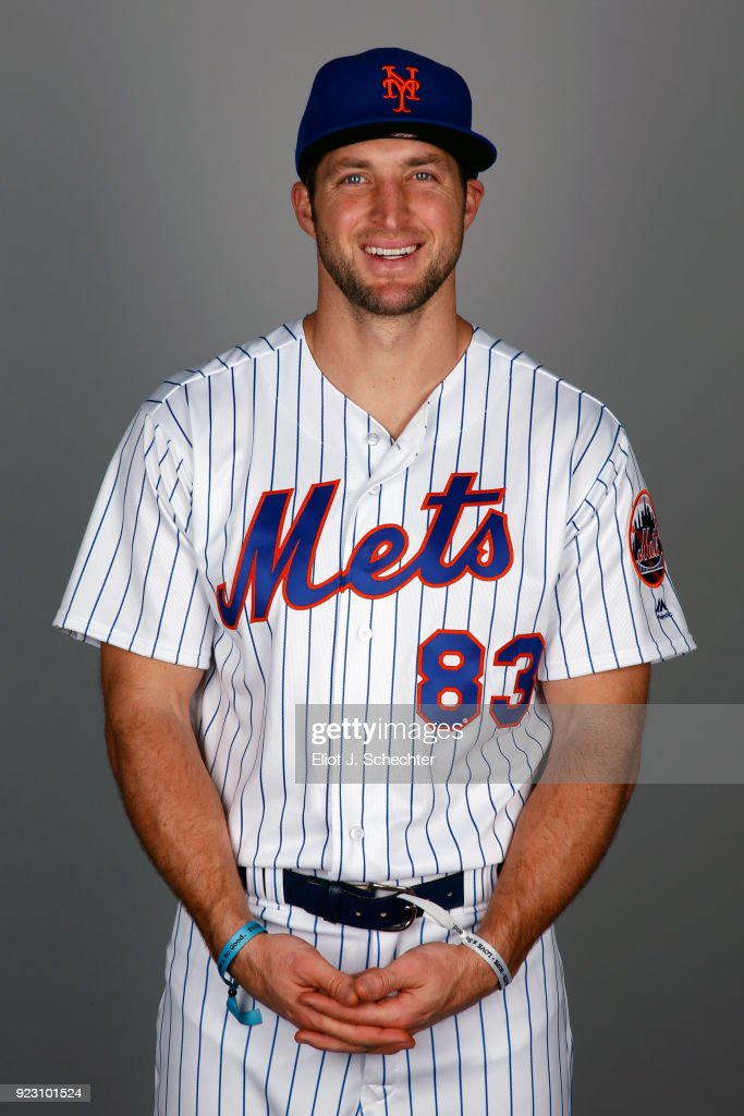 Tim Tebow #83 of the New York Mets poses during Photo Day on Wednesday, February 21, 2017 at Tradition Field in Port St. Lucie, Florida.