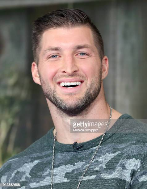 Tim Tebow visits Fox Friends at Fox News Studios on February 7 2018 in New York City