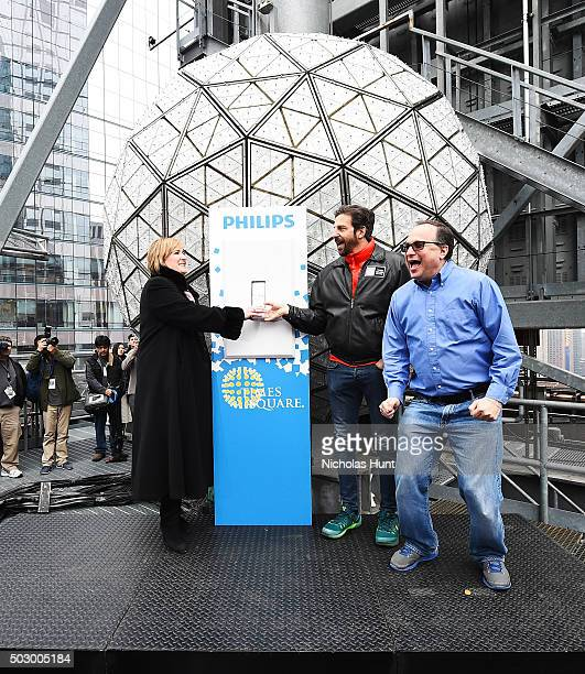 Tim Topkins President Times Square Alliance Jeff Straus President of Countdown Entertainment and Amy Huntington President Philips Lighting Americas...