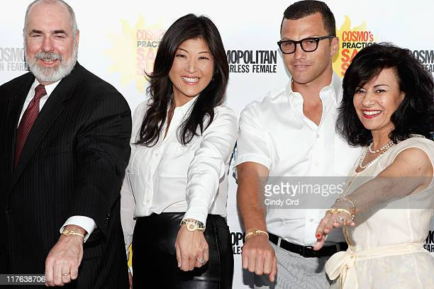 Tim Turnham JuJu Chang Sean Avery and Donna Kajian Lagan attends the 2nd Annual Cosmopolitan Magazine Practice Safe Sun Awards at Hearst Tower on...