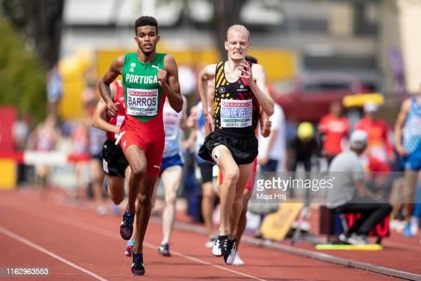 Tim van de Velde of Belgium competes during 3000m Steeplechase Men Round 1 on July 19, 2019 in Boras, Sweden.
