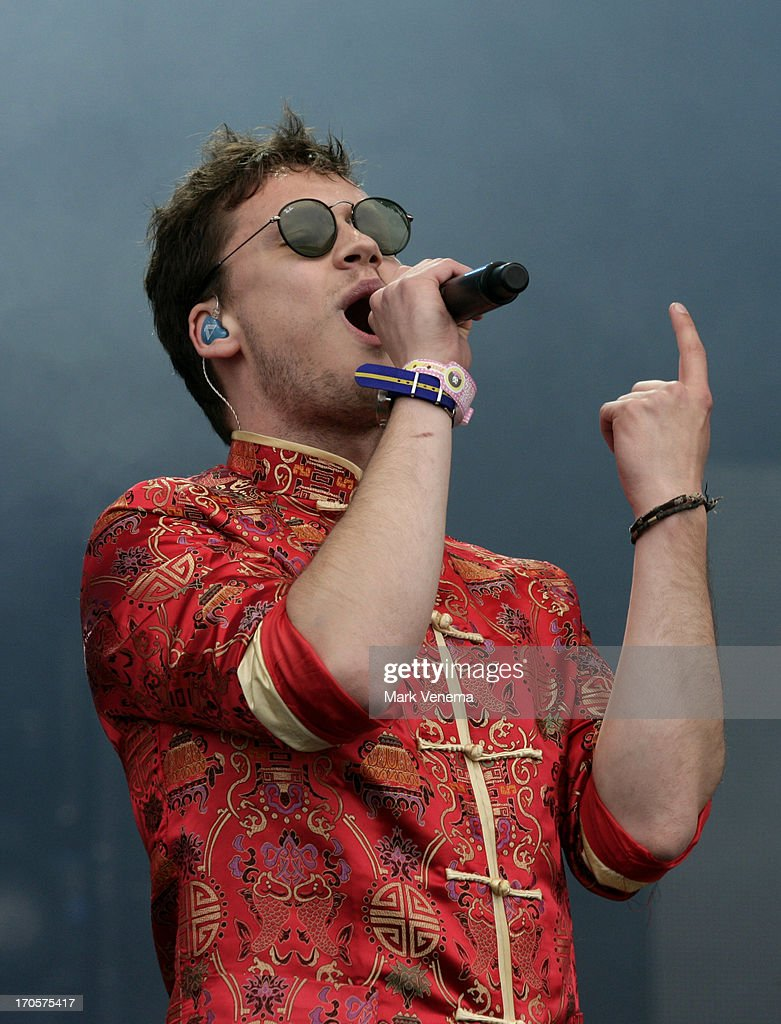 Tim van Esch of Handsome Poets performs at Day 1 of Pinkpop at Megaland on June 14, 2013 in Landgraaf, Netherlands.