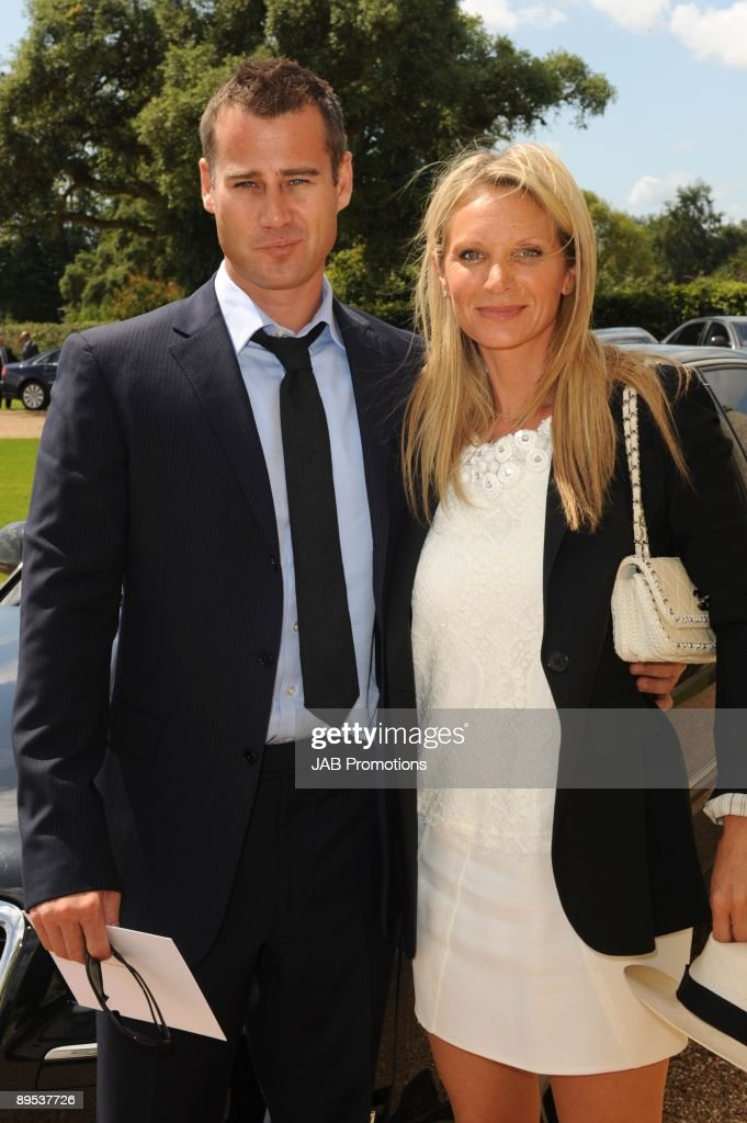 Tim Vincent and guest attends private lunch hosted by Audi at Goodwood on July 30, 2009 in Chichester, England.