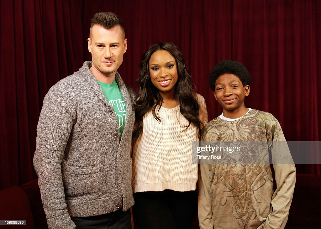 Tim Vincent, Jennifer Hudson and Skylan Brooks attend Day 1 of Tea of A Kind at Village At The Lift 2013 on January 18, 2013 in Park City, Utah.