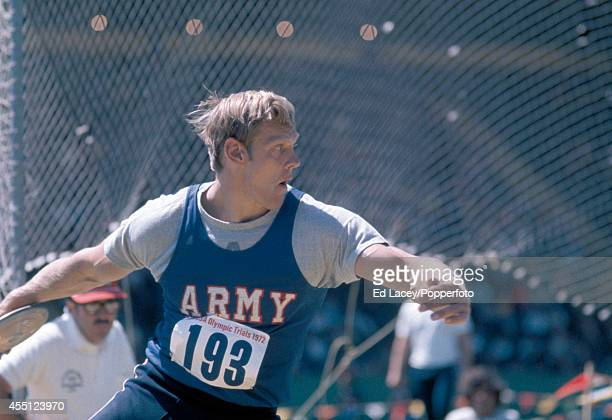 Tim Vollmer of the United States who came third in the discus throw at the Olympic Trials in Eugene Oregon circa 1972 Vollmer went on to place eighth...