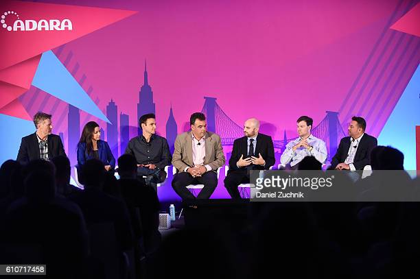 Tim Waddell Stephanie Senna Yannis Dosios John Snyder Mike Romoff Chris Copeland and Mike Caprio speak onstage at the The Rise of the Omnichannel...