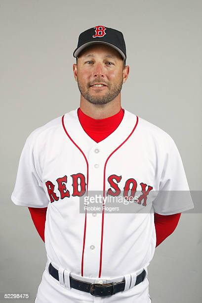Tim Wakefield of the Boston Red Sox poses for a portrait during photo day at City of Palms Park on February 26 2005 in Ft Myers Florida