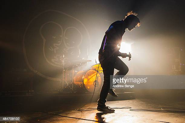 Tim Ward of The Fall Of Troy performs on stage at Electric Ballroom on August 19 2015 in London England