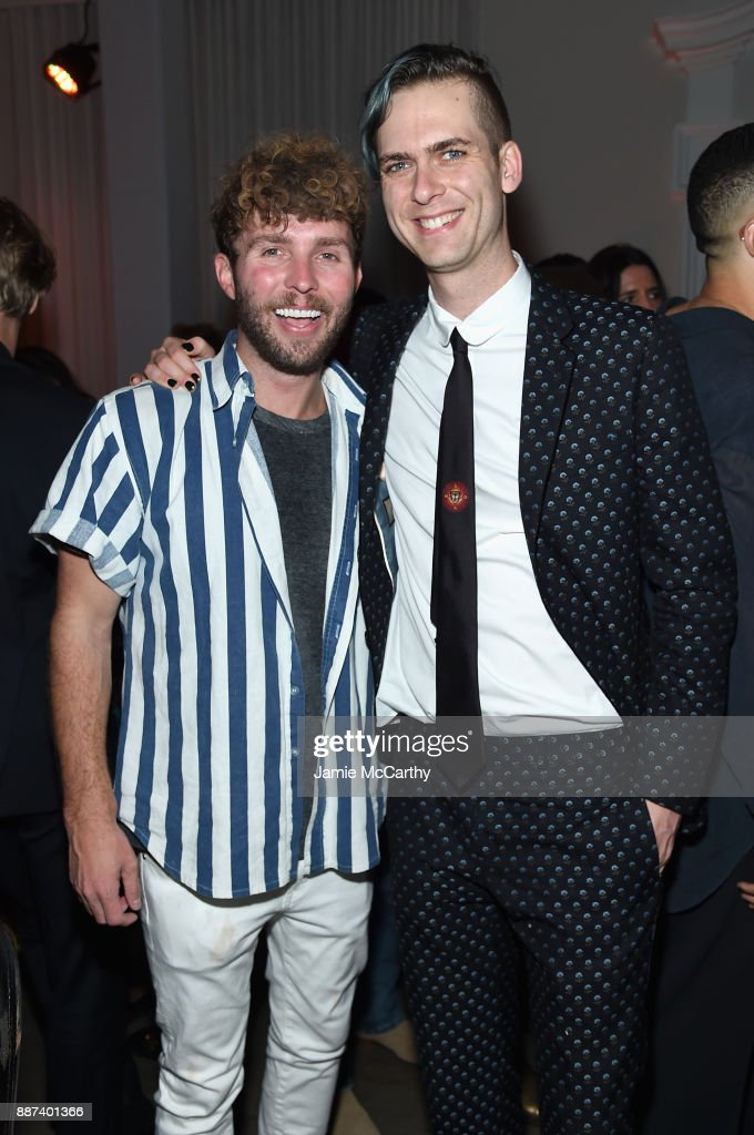 Tim Weiland and Carter Cleveland attend the Artsy Projects Miami x Gucci: Special Thanks to Bombay Sapphire at The Bath Club on December 6, 2017 in Miami Beach, Florida.