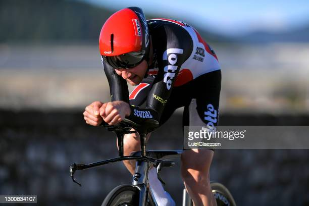 Tim Wellens of Belgium and Team Lotto Soudal during the 51st Étoile de Bessèges - Tour du Gard 2021, Stage 5 a 10,71km Individual Time Trial from...