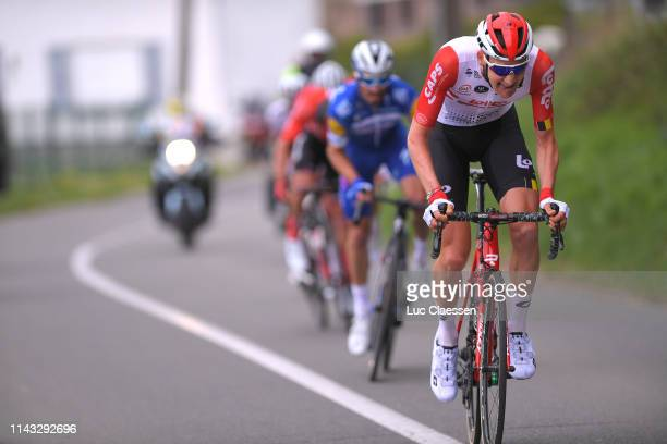 Tim Wellens of Belgium and Team Lotto Soudal / Julian Alaphilippe of France and Team Deceuninck QuickStep / Mathieu van der Poel of The Netherlands...