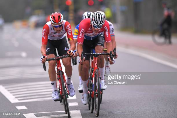 Tim Wellens of Belgium and Team Lotto Soudal / Mathieu van der Poel of The Netherlands and Team Corendon - Circus / Julian Alaphilippe of France and...