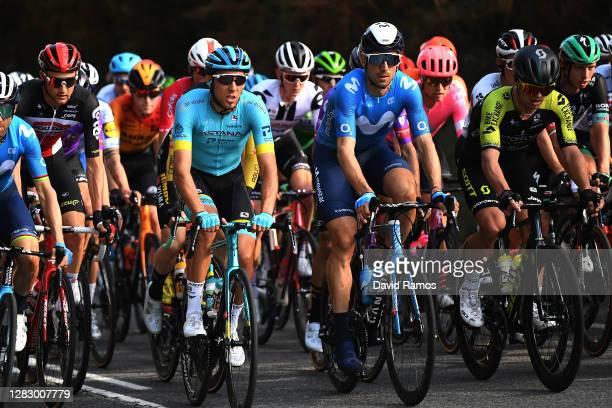 Tim Wellens of Belgium and Team Lotto Soudal / Omar Fraile Matarranz of Spain and Astana Pro Team / Imanol Erviti of Spain and Movistar Team / Magnus...