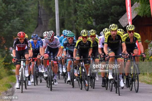Tim Wellens of Belgium and Team Lotto Soudal / Patrick Konrad of Austria and Team Bora - Hansgrohe / Rafal Majka of Poland and Team Bora - Hansgrohe...