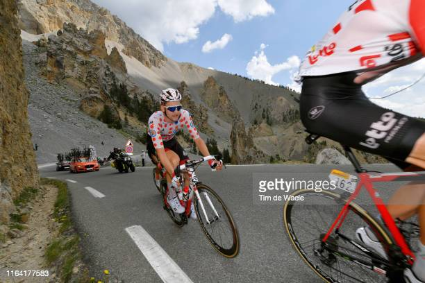 Tim Wellens of Belgium and Team Lotto Soudal Polka Dot Mountain Jersey / Casse Déserte / during the 106th Tour de France 2019 Stage 18 a 208km stage...