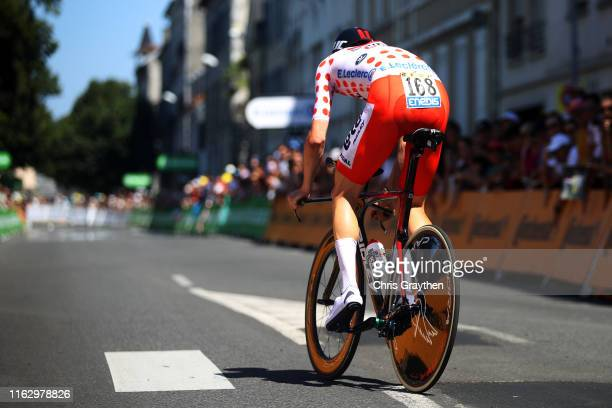 Tim Wellens of Belgium and Team Lotto Soudal Polka Dot Mountain Jersey / during the 106th Tour de France 2019 Stage 13 a 272km Individual Time Trial...