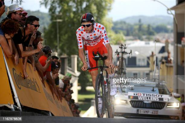 Tim Wellens of Belgium and Team Lotto Soudal Polka Dot Mountain Jersey / during the 106th Tour de France 2019 - Stage 13 a 27,2km Individual Time...