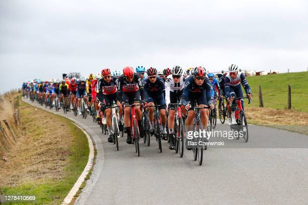 Tim Wellens of Belgium and Team Lotto Soudal / Remy Mertz of Belgium and Team Lotto Soudal / Michal Golas of Poland and Team Ineos Grenadiers /...