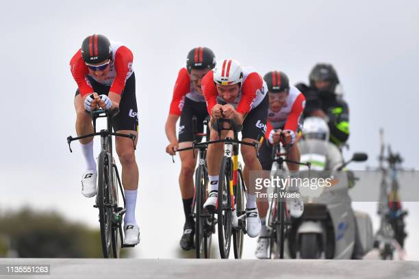Tim Wellens of Belgium and Team Lotto Soudal / Victor Campenaerts of Belgium and Team Lotto Soudal / during the 54th Tirreno-Adriatico 2019, Stage 1...